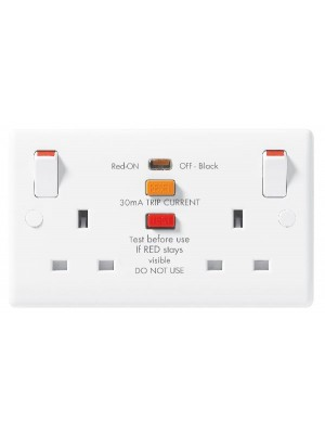 BG 822RCD-01 13A Safety RCD 2-gang switched socket