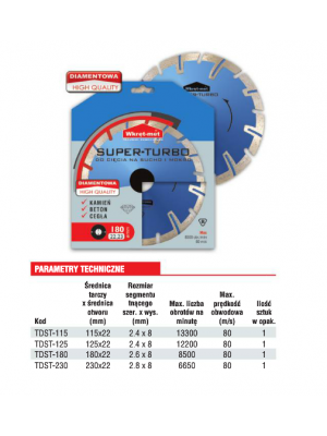 Super Turbo diamond blade disc - TDST-115